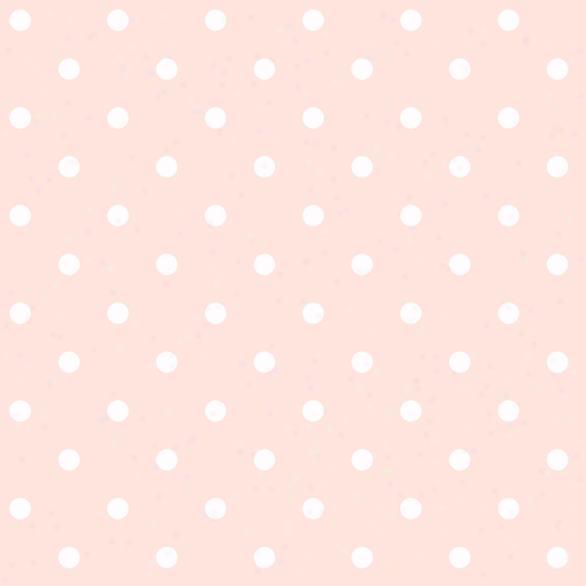 Dots Peach & White Wallpaper