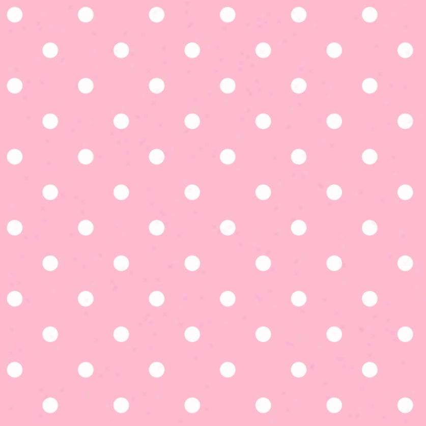 Dots Pink & White Wallpaper
