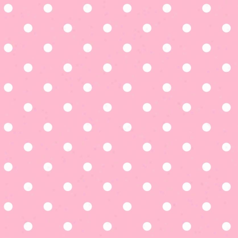 Dots Pink & White Wallpaper