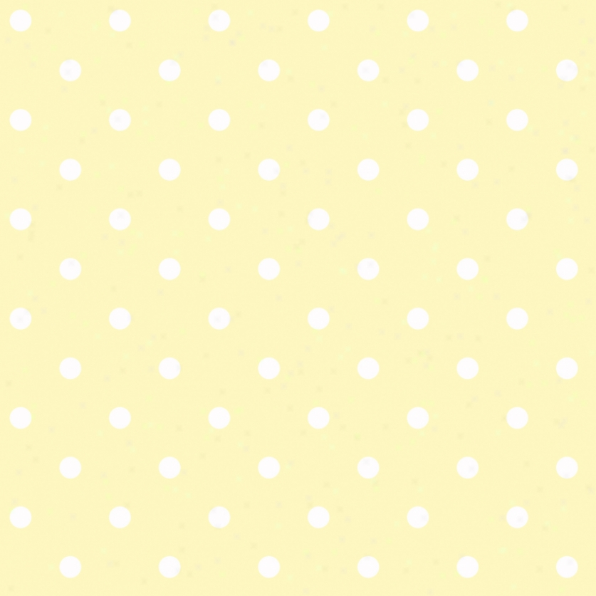 Dots Yellow & White Wallpaper