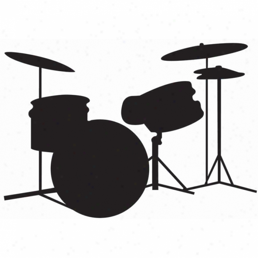 Drums Chalkboard Wall Decals