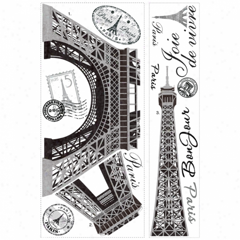 Eiffel Tower Giant Wall Decals