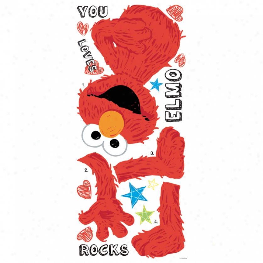 Elmo Loves You Giant Wall Decals