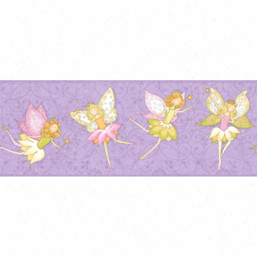 Purple wallpaper border 2017 2018 best cars reviews for Fairy garden wall mural