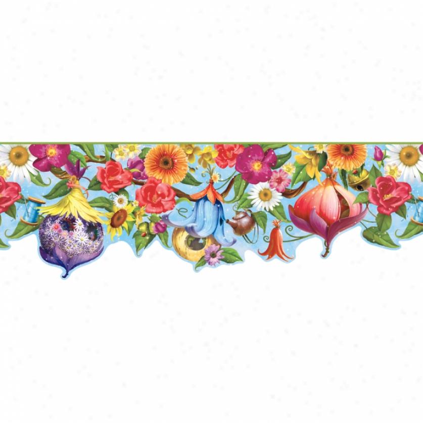 Fairy House Prepasted Wallpaper Border