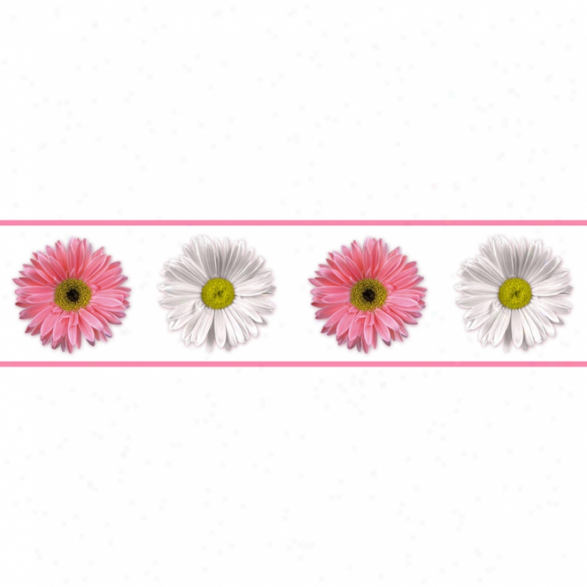 Flower Power Peel & Stick Border