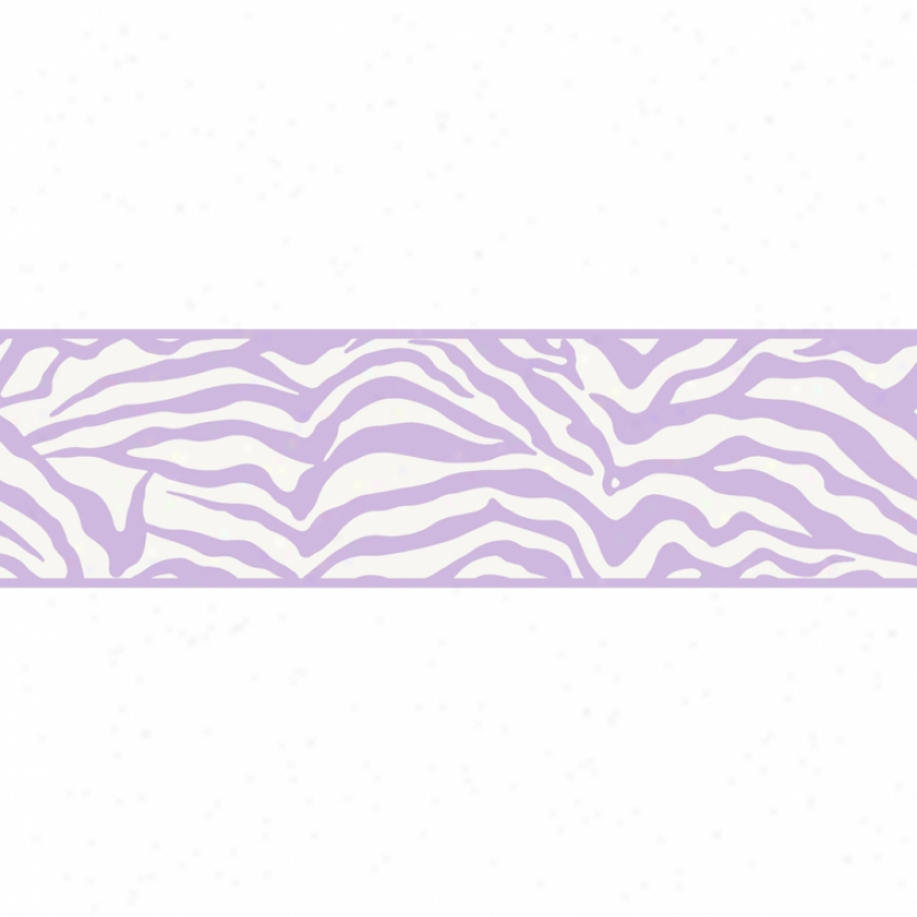 Glam Zebra Purple Wallpaper Border
