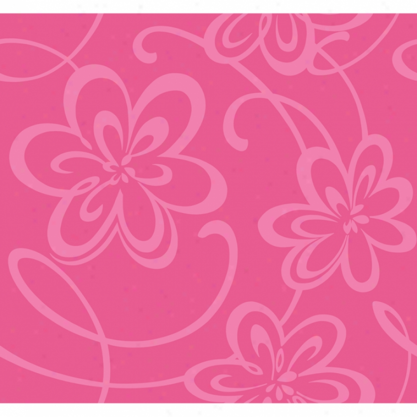 Glitter Floral Hot Pink Wallpaper Wall Decals The Home
