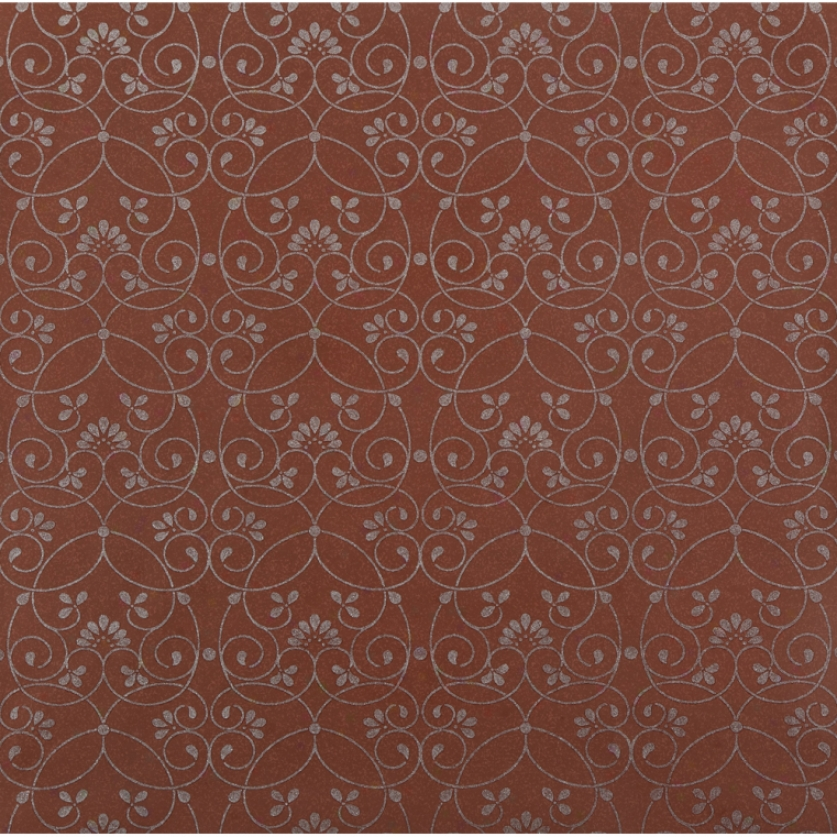 Glitter Scroll Brown Wallpaper