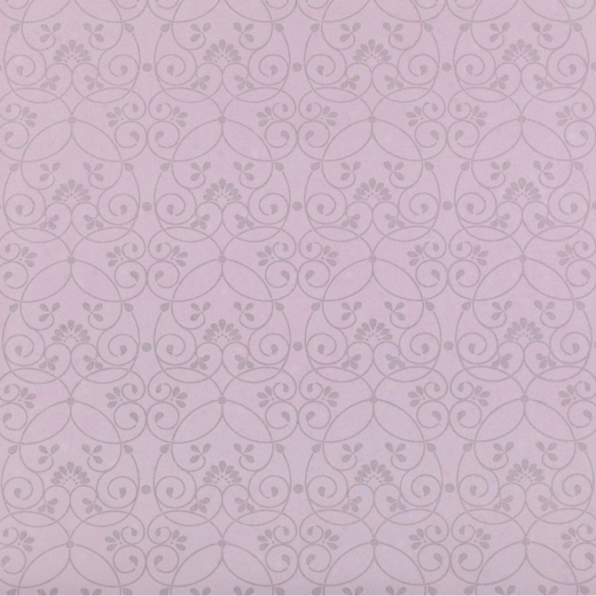 Glitter Scroll Purple Wallpaper