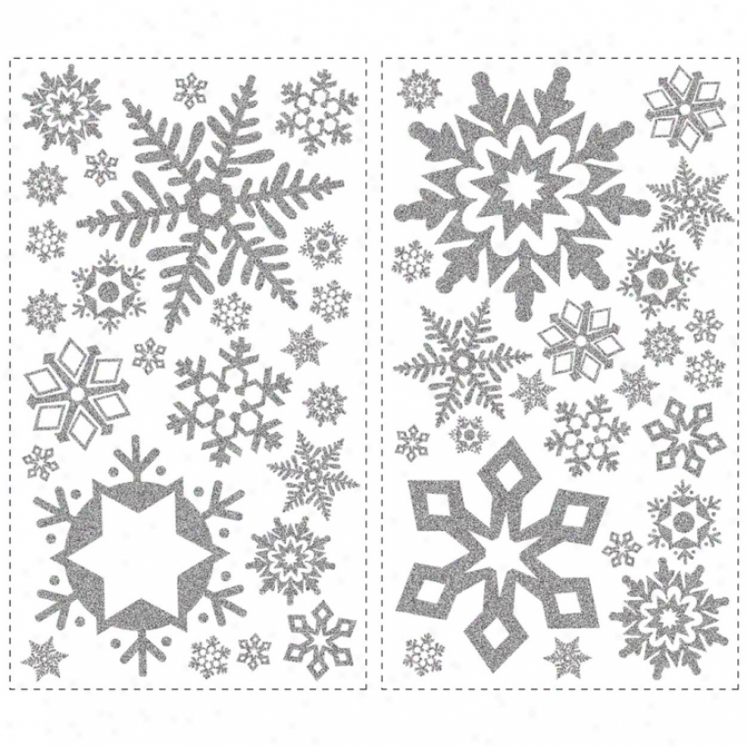 GlitterS nowflakes Wall Decals
