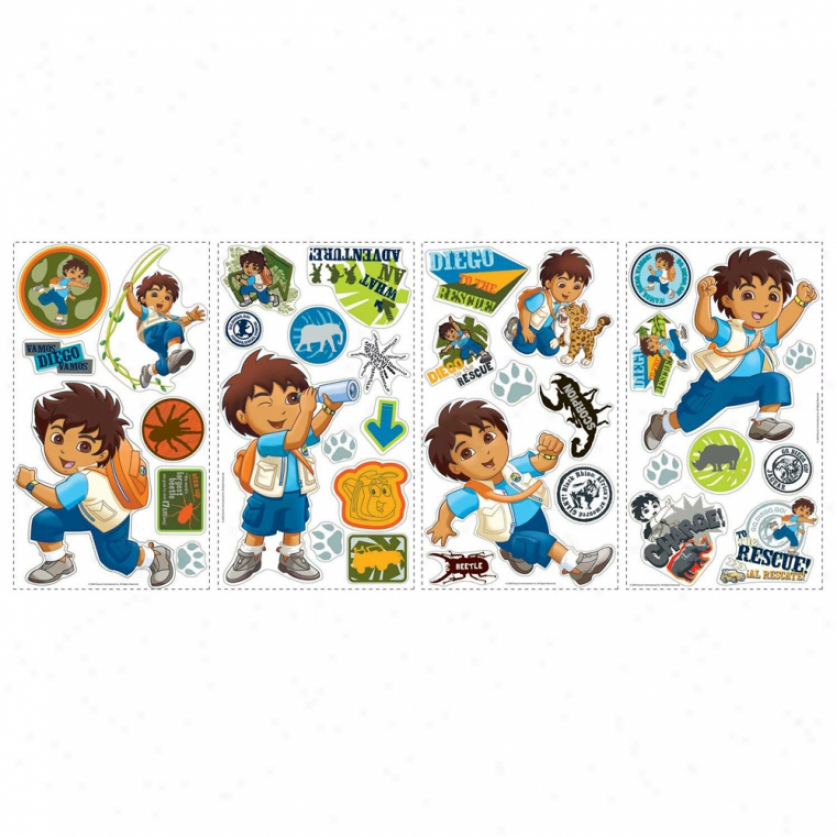 Go Diego Go! Wall Decals