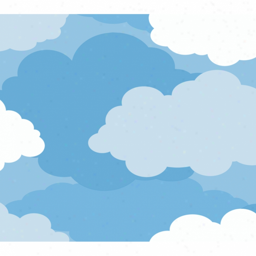 Graphic Clouds Blue Wallpaper