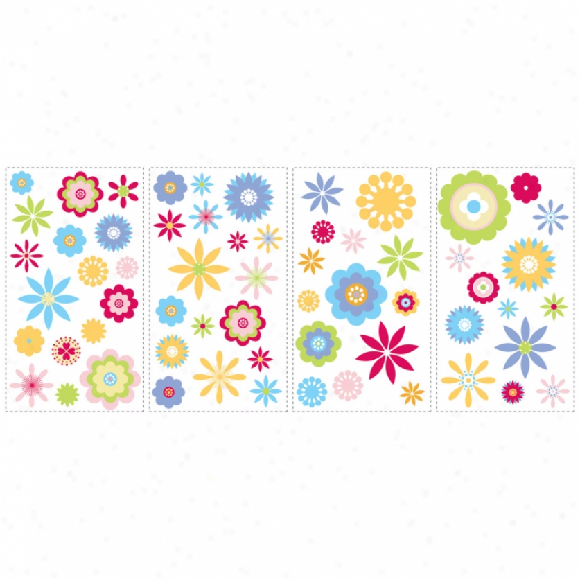 Graphic Flowers Wall Decals