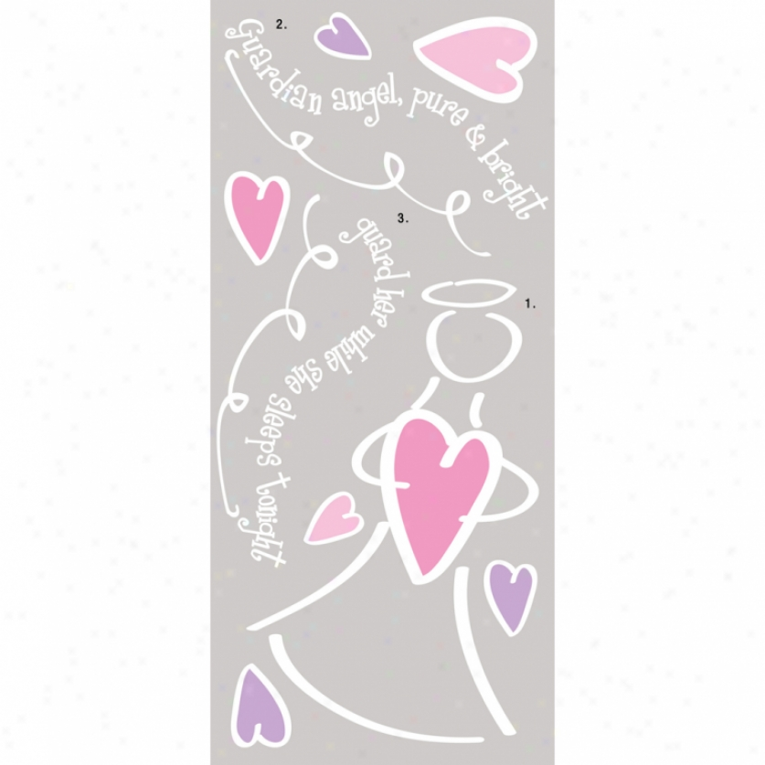 Guardian Angel (girl) Giant Wall Decal