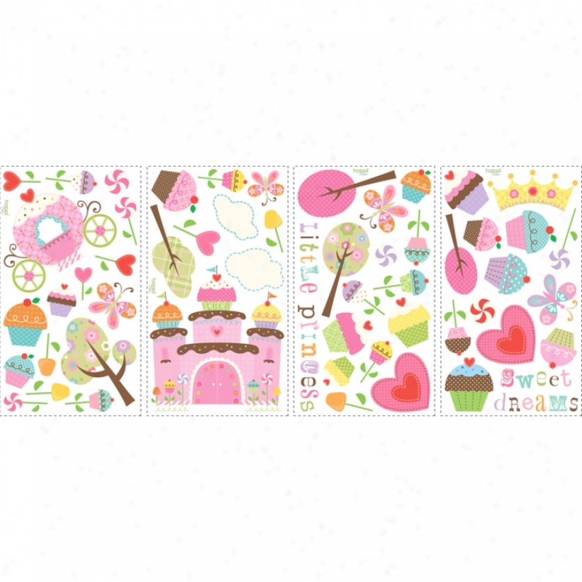 Happi Cupcake Land Wall Decals