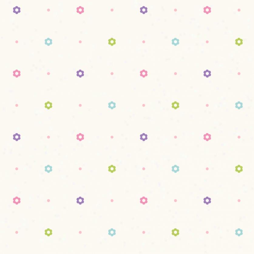 Happi Floral Dots Cream & Pastels Wallpaper