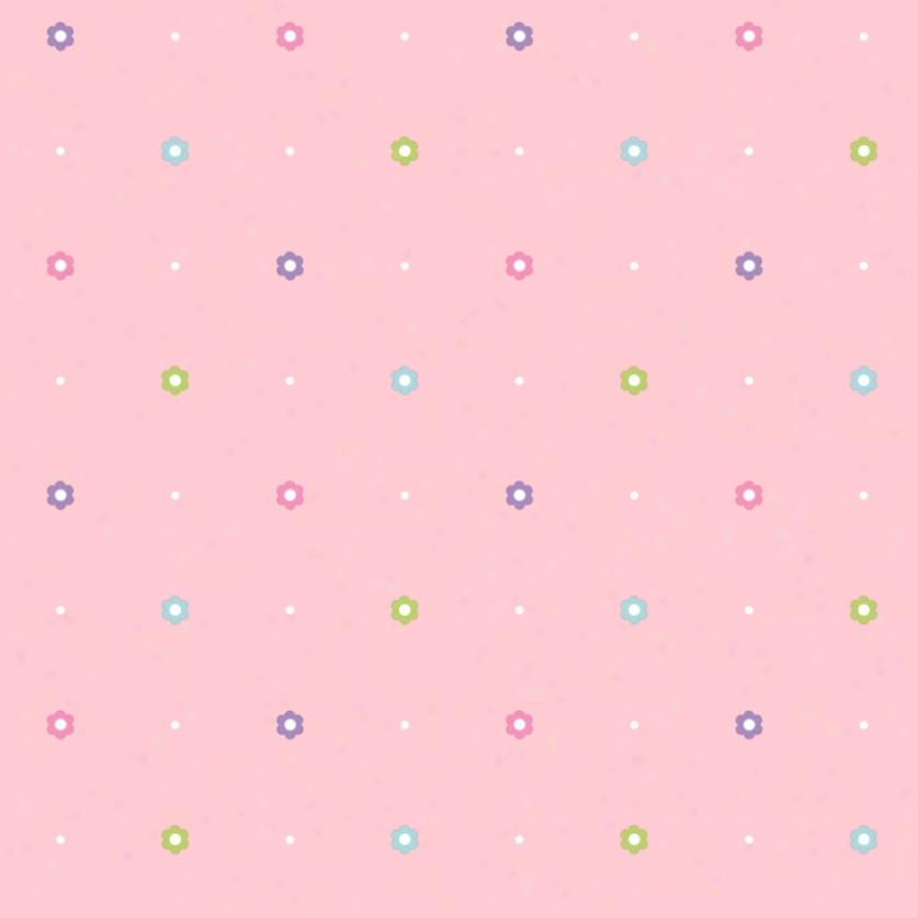 Happi Floral Dots Pink Wallpaper