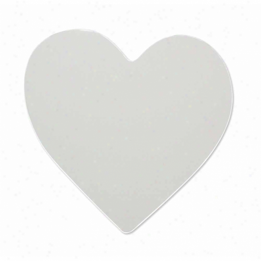 Heart Peel & Stick Mirror