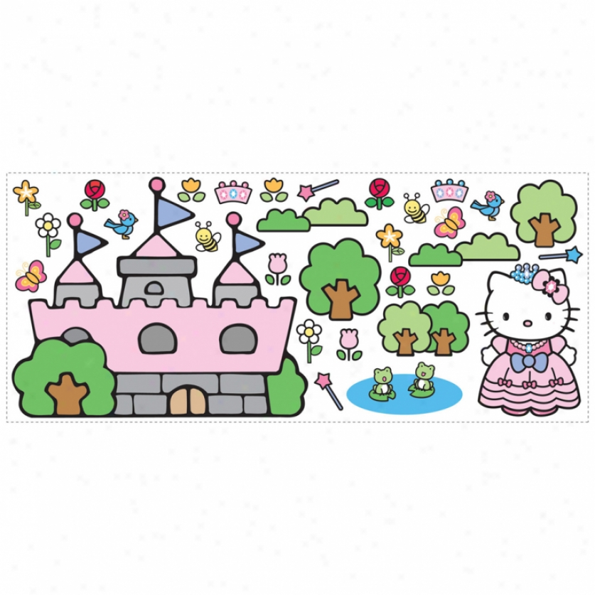 Hello Kitty Princess Fortress Giant Wall Decals