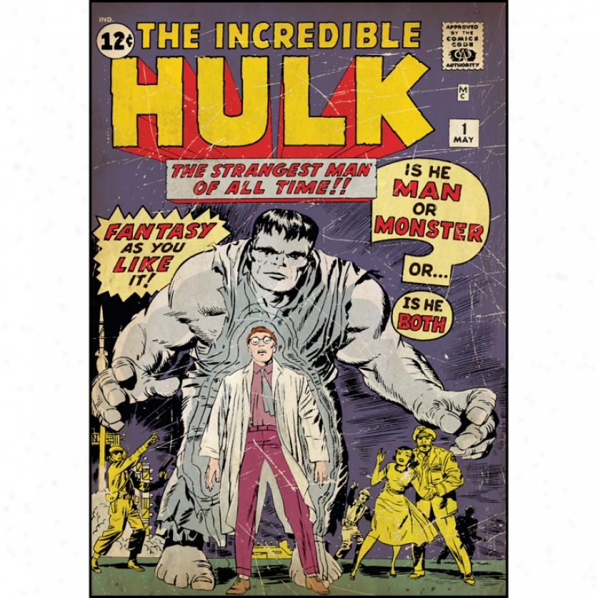 Incredible Hulk Issue #1 Comic Cover Giant Wall Decal