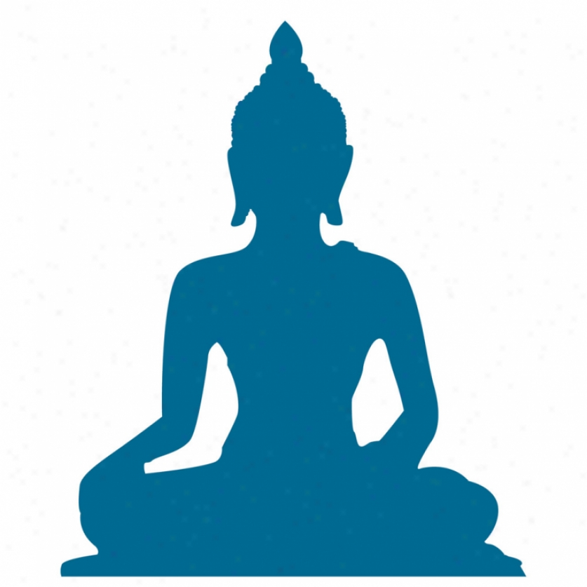 Indian Budda Giant Satin Wall Decal