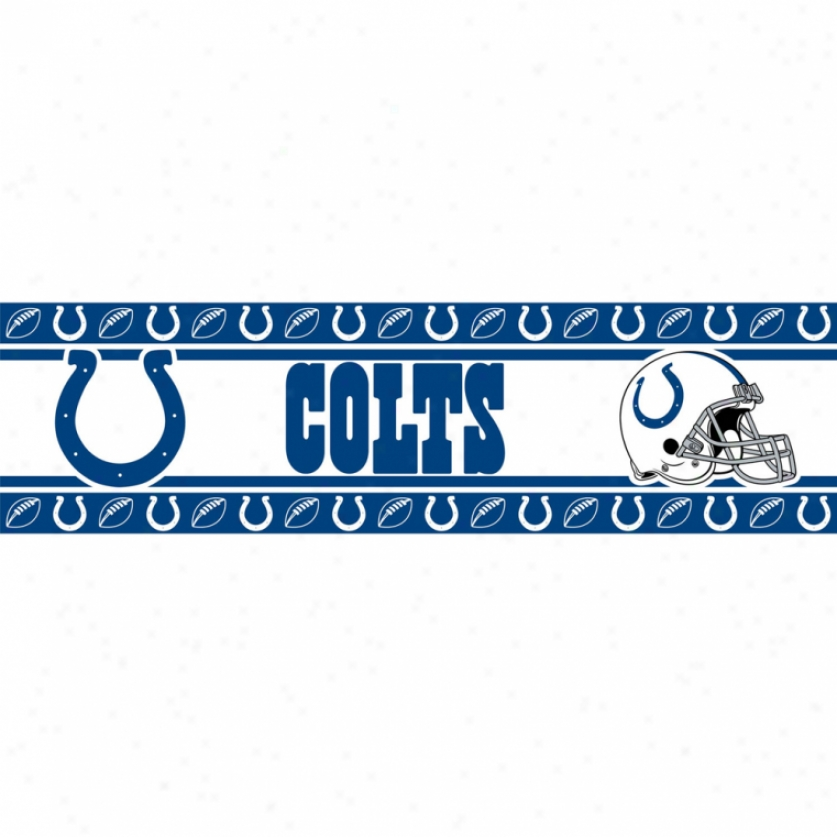 Indianapolis Colts Peel & Stick Border