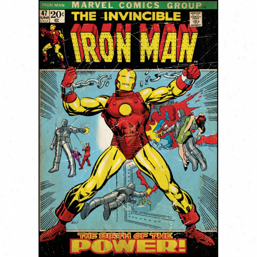 Iron Man Comic Cover Monster Wall Decal