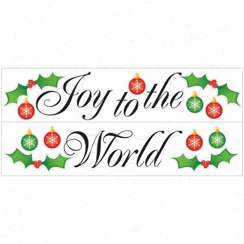 Joy To The World Wall Decals