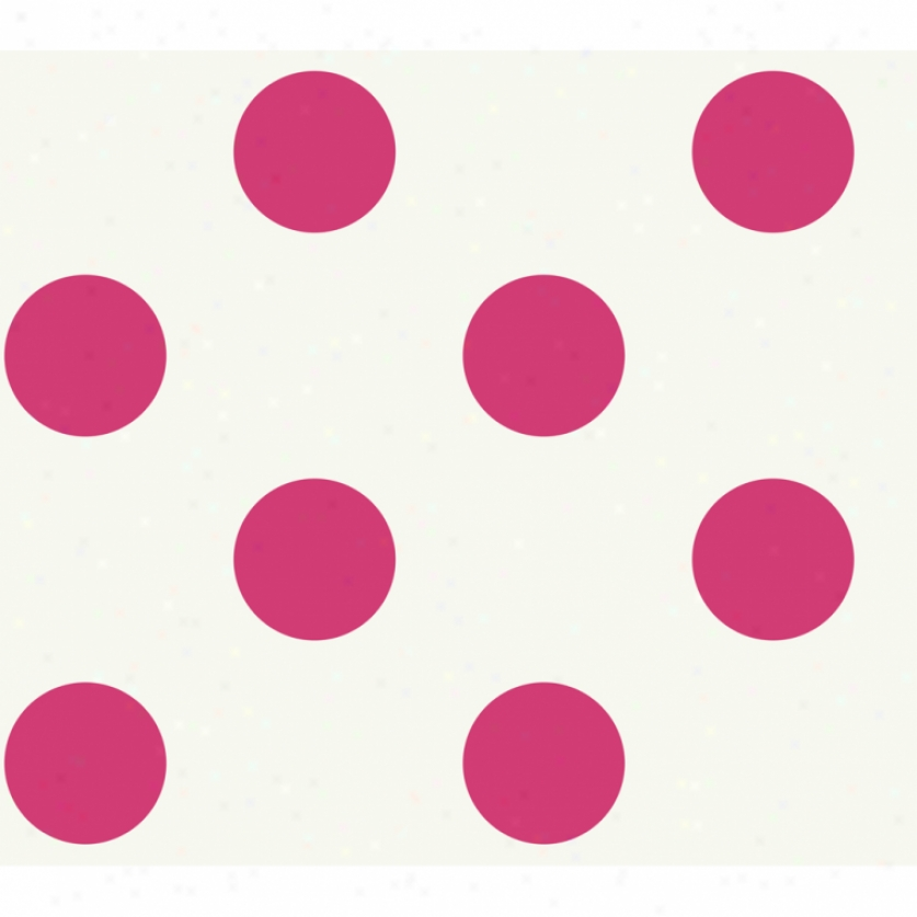 Jumbo Dots Pale & Pink Wallpaper