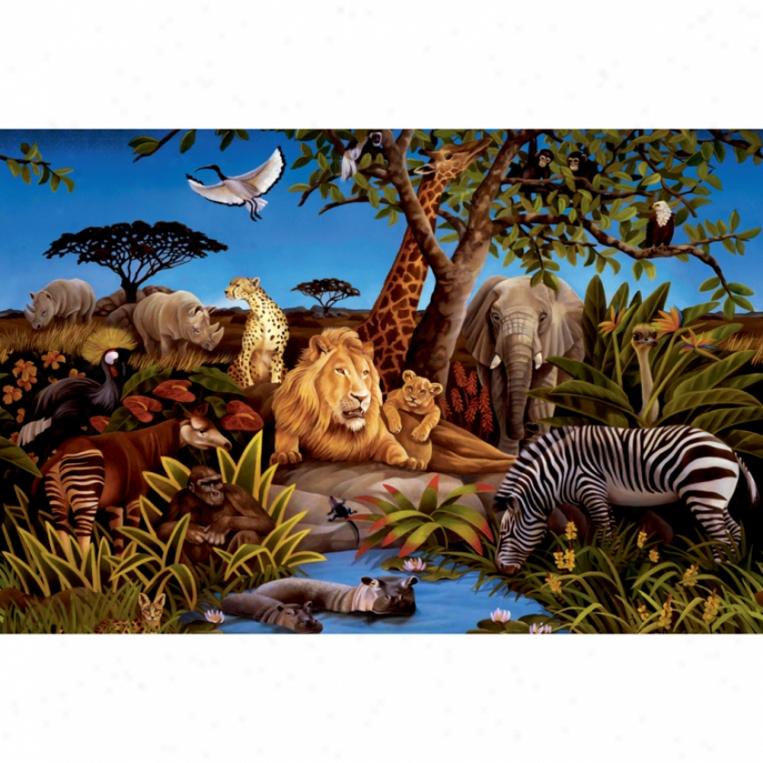 Jungle Animals Xl Wallpaper Mural 10.5' X 6'