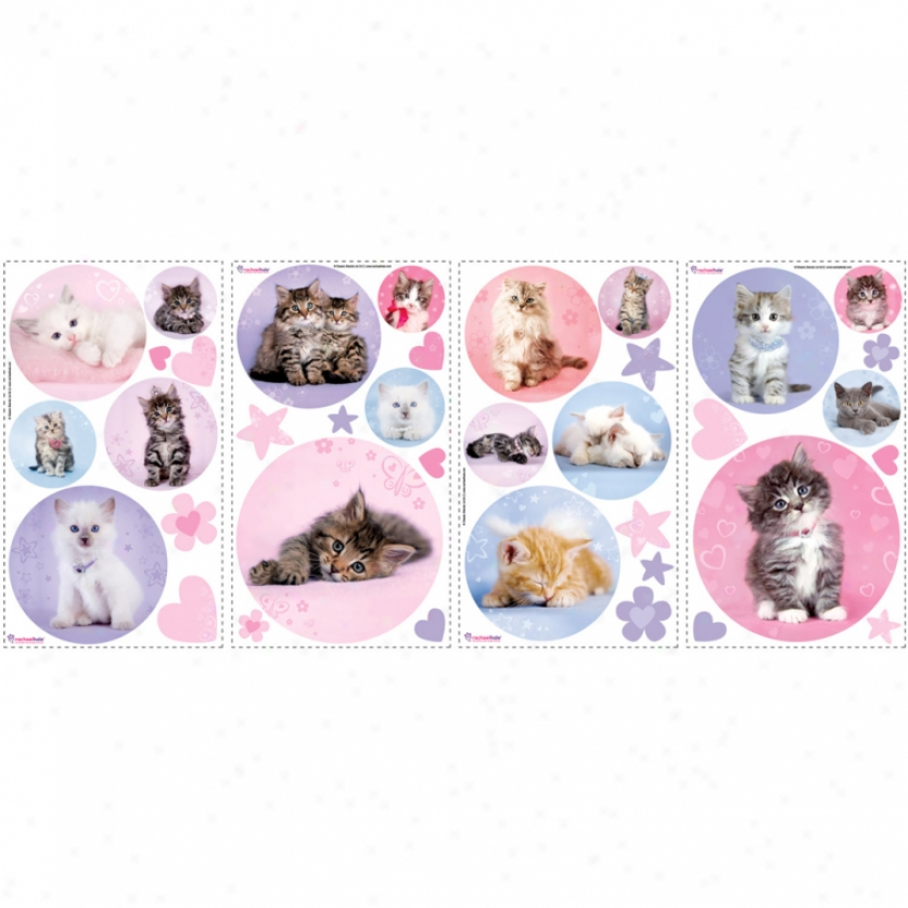 Kitty Dots Wall Decals