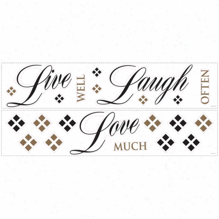 Live, Love, Laugh Wall Decals