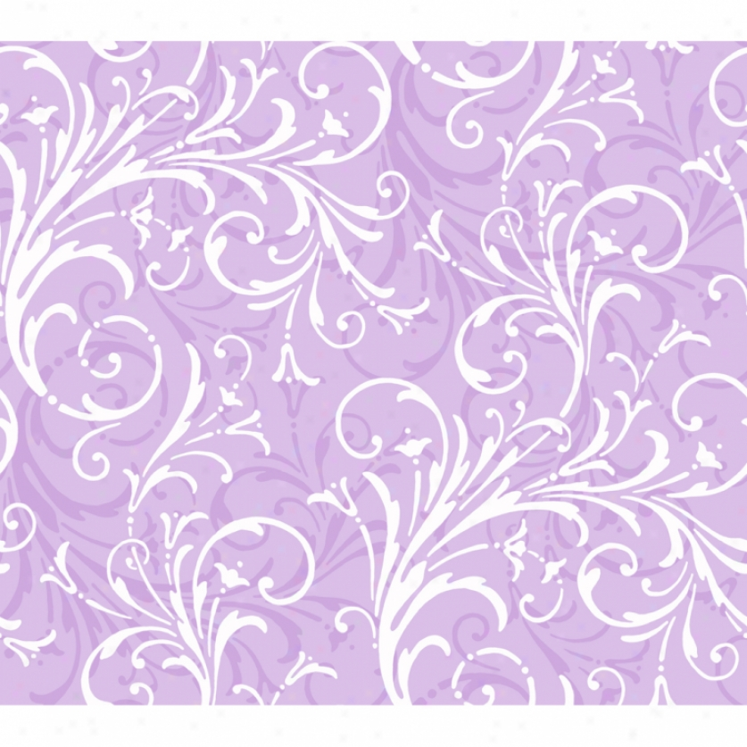 Lively Scrolls Lilac Wallpaper