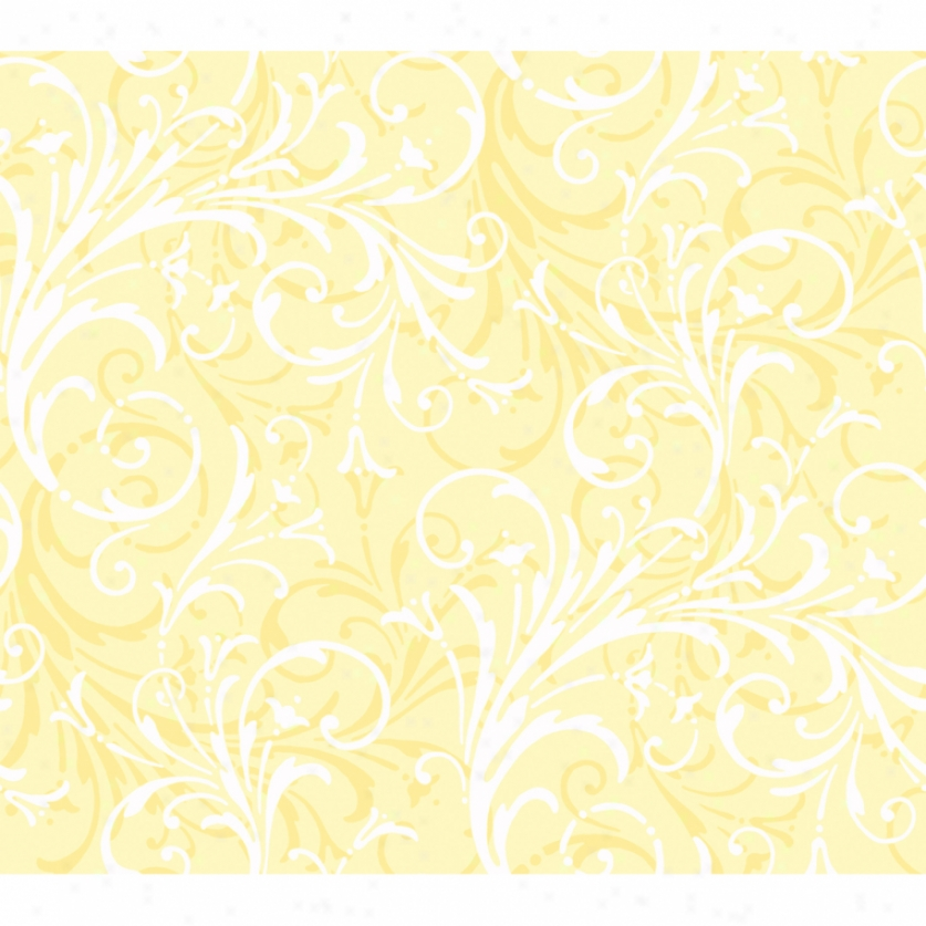 Lively Scrolls Yellow Wallpaper