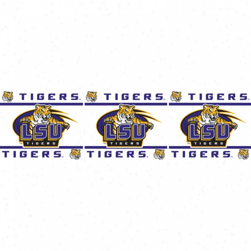Louisiana State Tigers Peel & Stick Border