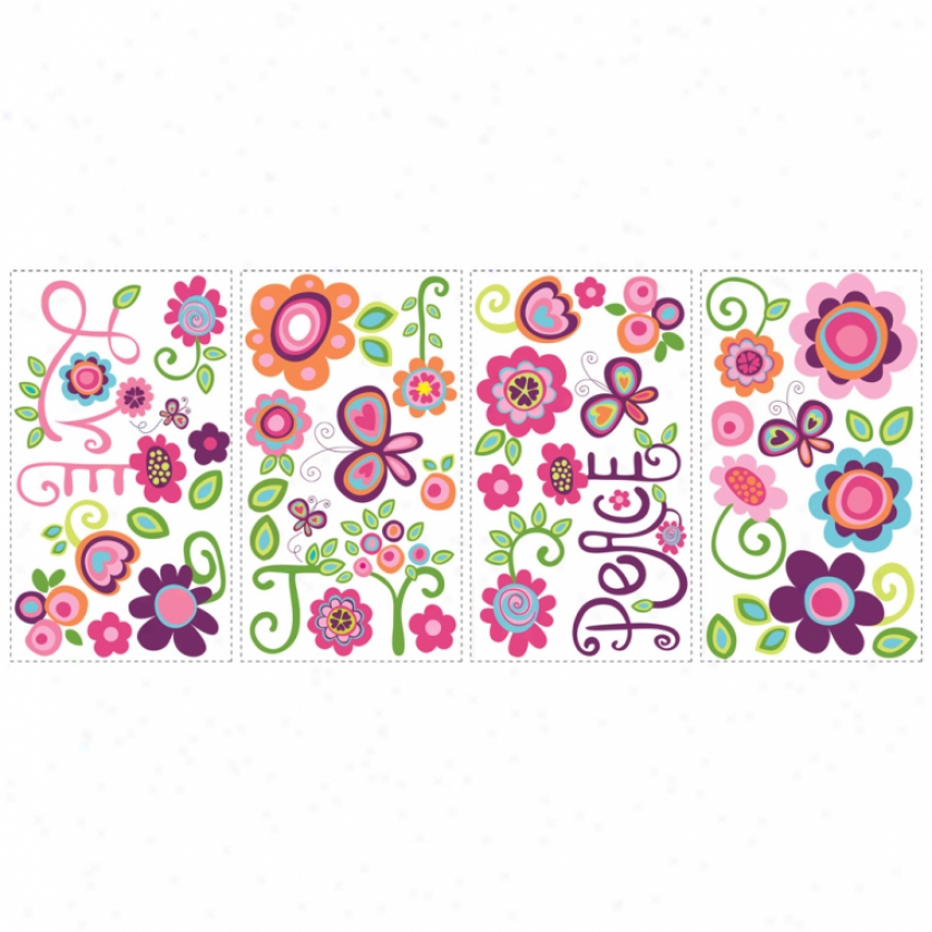 Love, Joy, Peeace Wall Decals