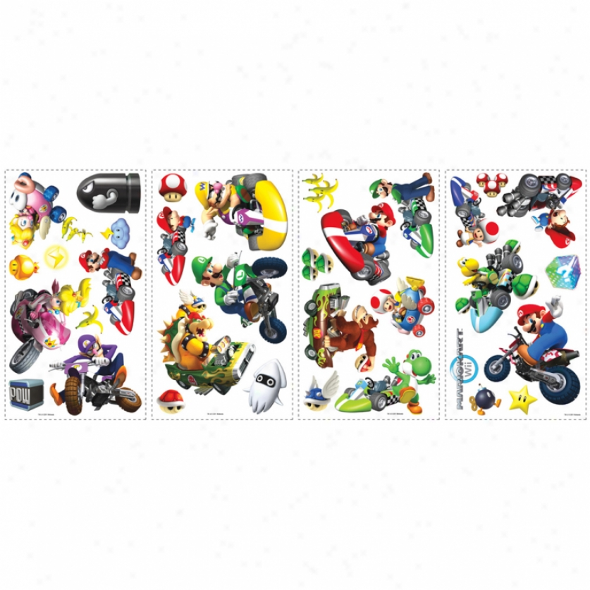 Mario Kart Wii: Wall Decals