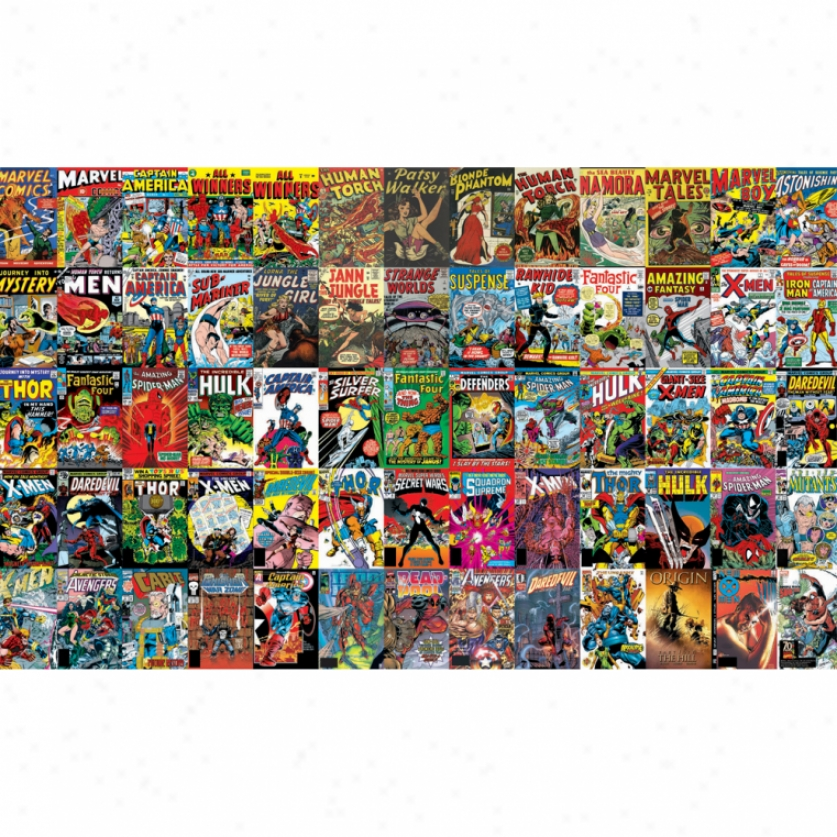 Marvel Comic Book Covers Xl Wallpaper Mural 10.5' X 6'