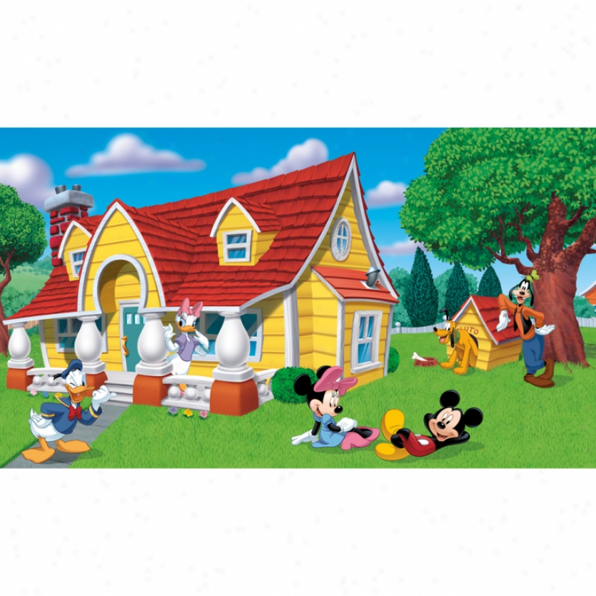 Mickey & Friends Xl Wallpaper Mural 10.5' X 6'