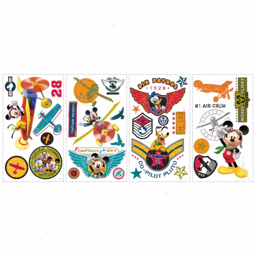 Mickey Mouse Clubhouse Pilot Wall Decals