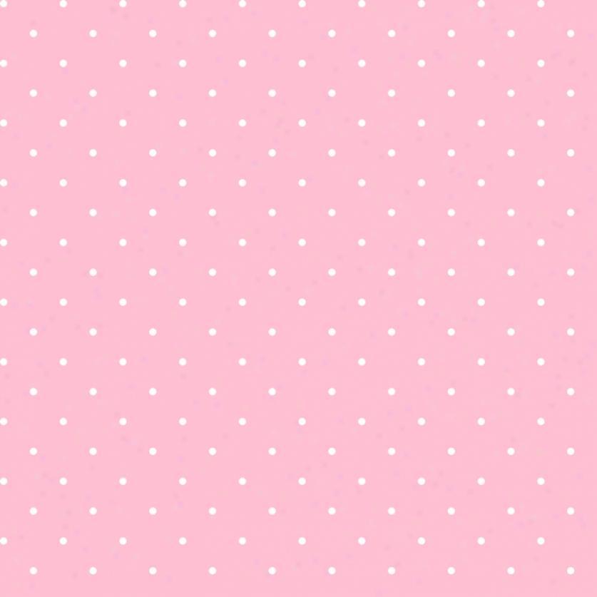 Mini Dots Pink & White Wallpaper