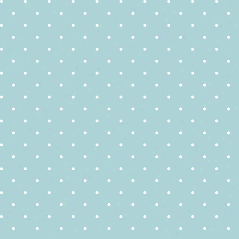 Mini Dots Turquoise & White Wallpaper