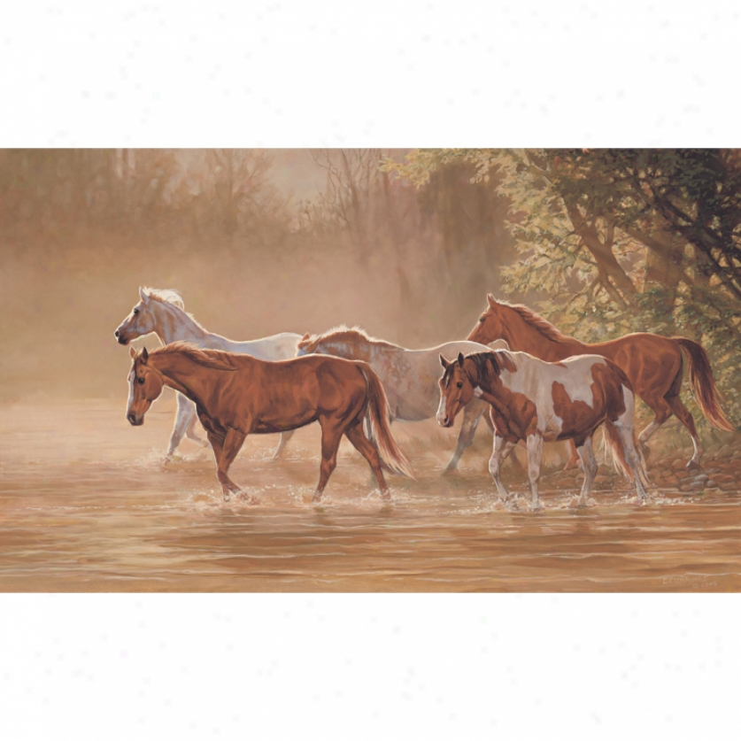 Misty River Xl Wallpaper Mural 10.5' X 6'