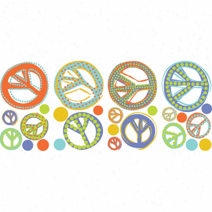 Mod Peace Signs Wall Decals