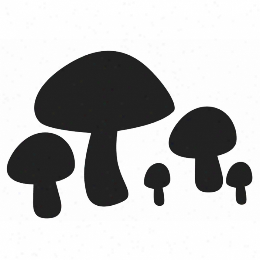 Mushrooms Chalkboard Wwll Decals