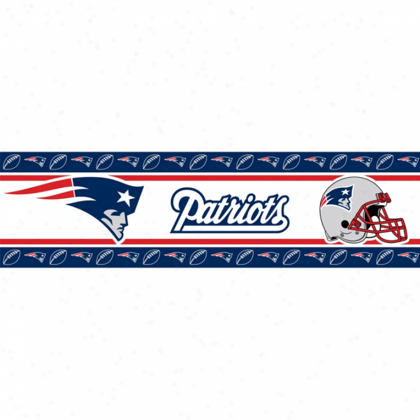 New England Patriots Peel & Stick Border