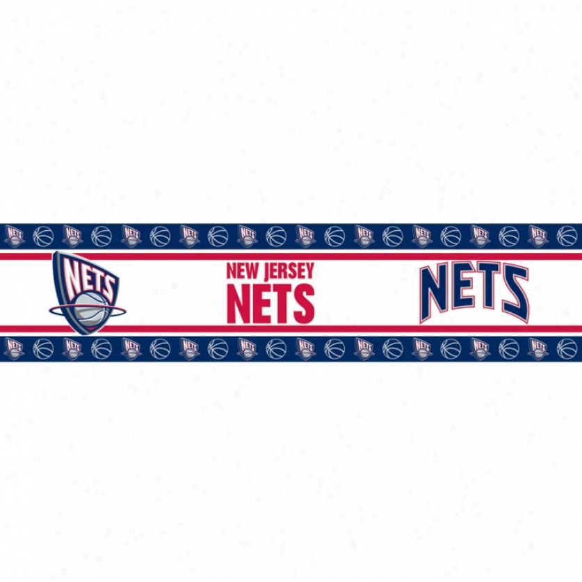 New Jersey Nets Peel & Stick Border