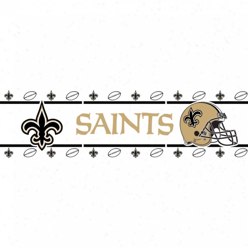 New Orleans Saints Peel & Stick Border