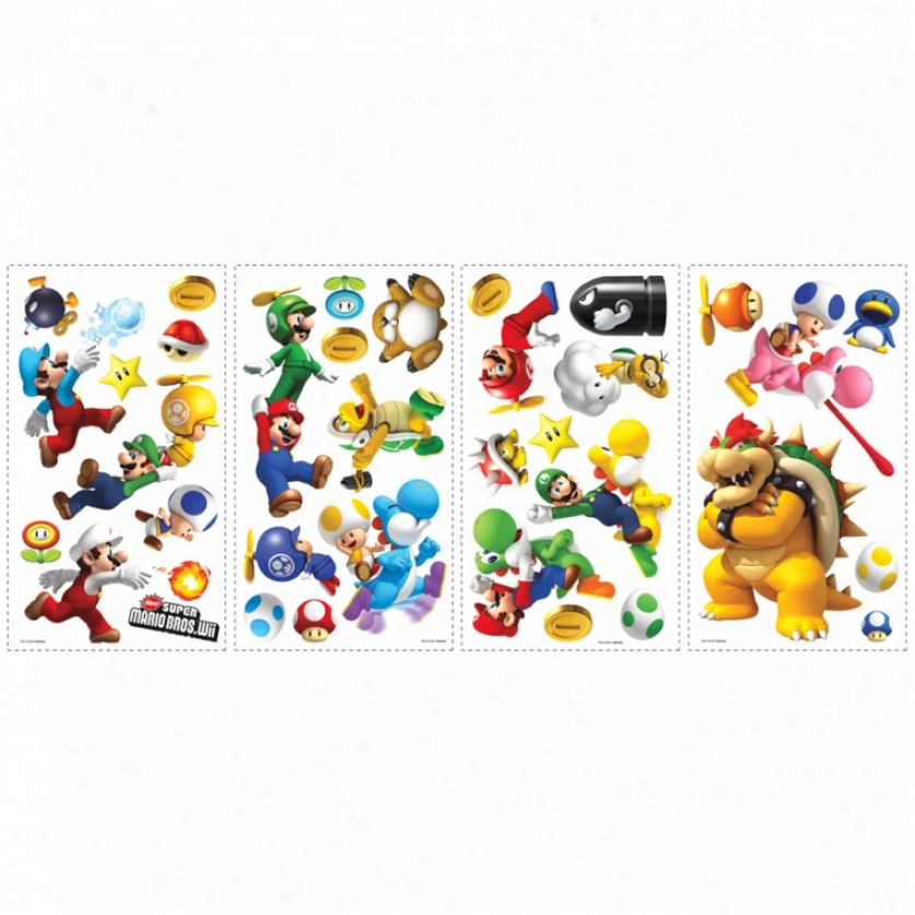 New Super Mario Bros. Wii: Wall Decals